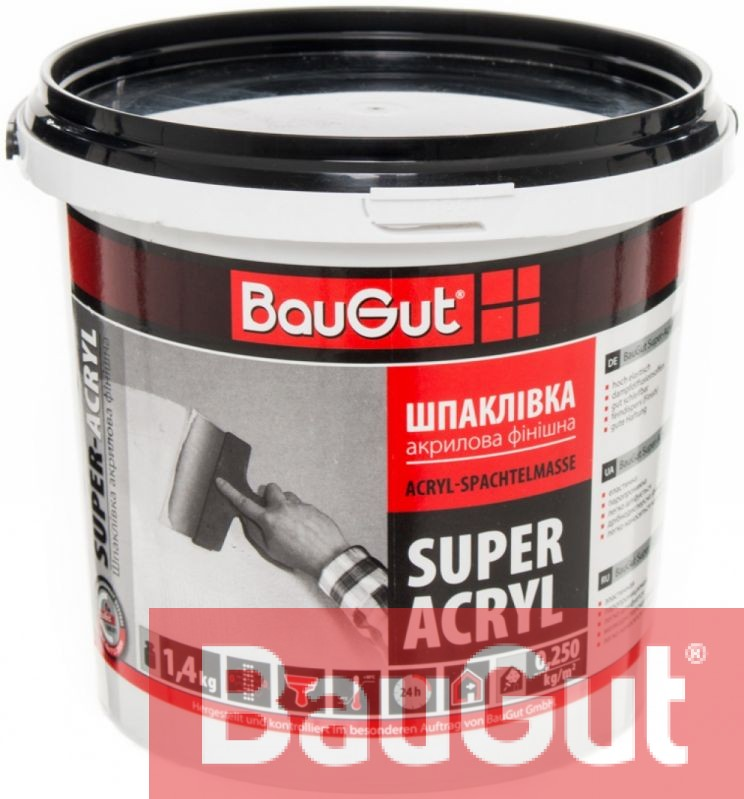 Шпаклівка BauGut Super Finish 1,4 кг