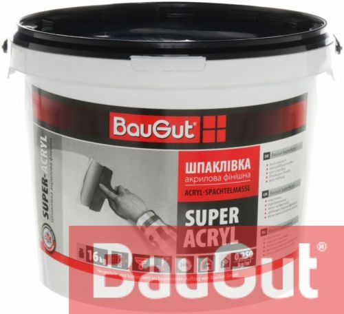 Шпаклевка BauGut Super Finish 16 кг