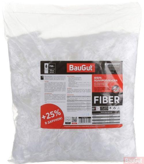 Фибра полипропиленовая BauGut к растворам и бетонам 12 мм 0,75 кг