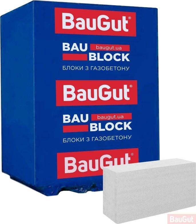 Газобетонний блок BauGut 600x200x400 мм D-500