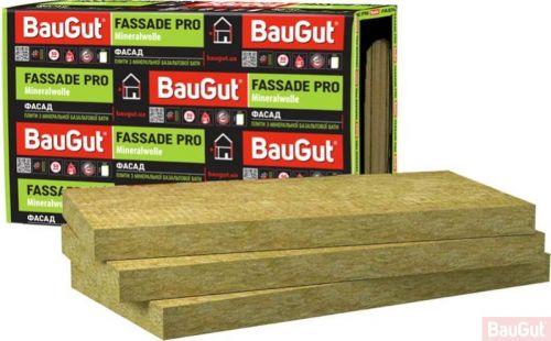 Базальтова вата BauGut FASSADE PRO 100 мм 1,2 кв.м