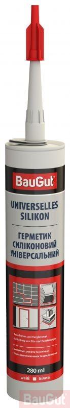 Герметик силіконовий BauGut універсальний білий 310 мл