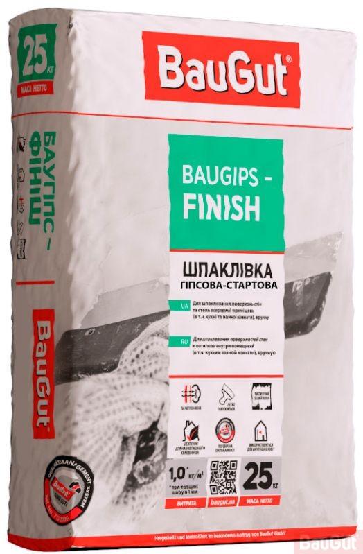 Шпаклівка гіпсова BauGut Baugips-FINISH 25 кг