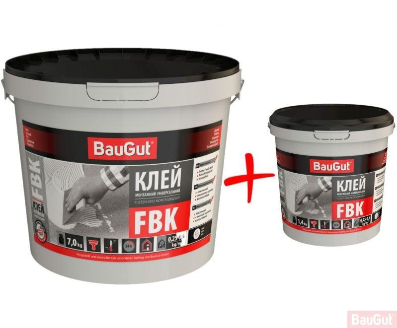 Клей универсальный монтажный BauGut FBK 7кг + FBK 1,4кг